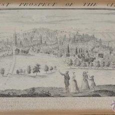 Arte: THE SOUTH EAST PROSPECT OF THE CITY OF BRISTOL GRABADO ORIGINAL SAMUEL BUCK. Lote 40474106