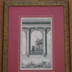 """Arte: GRABADO ARQUITECTÓNICO DEL SIGLO XVIII """"PORTIQUE CORINTHIEN SANS PIEDESTAL"""". Lote 50136654"""