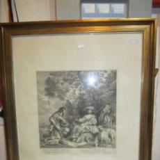 Arte: GRABADO CON ESCENA GALANTE. JACOB NEEFS (1610-1660). MEDIDA MANCHA: 29 X 32 CMS.. Lote 50147487