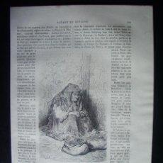 Arte: 1862-VENDEDORA DE CACAHUETES DE MADRID GRABADO ORIGINAL DE GUSTAVO DORÉ. Lote 50169542