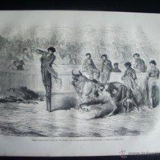 Arte: 1862-MATAR CON ZANCOS MIGUEL LOPEZ GORRITO SEVILLA TOROS TOREROS GRABADO ORIGINAL DE GUSTAVO DORÉ. Lote 50171067
