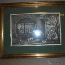 Arte: (M) ANTIGUO GRABADO S.XVIII ANAGRAMA . DB - 1793 - 46,5X35,5 CM. ENMARCADO - GRABADO 33X22 CM.. Lote 50188610
