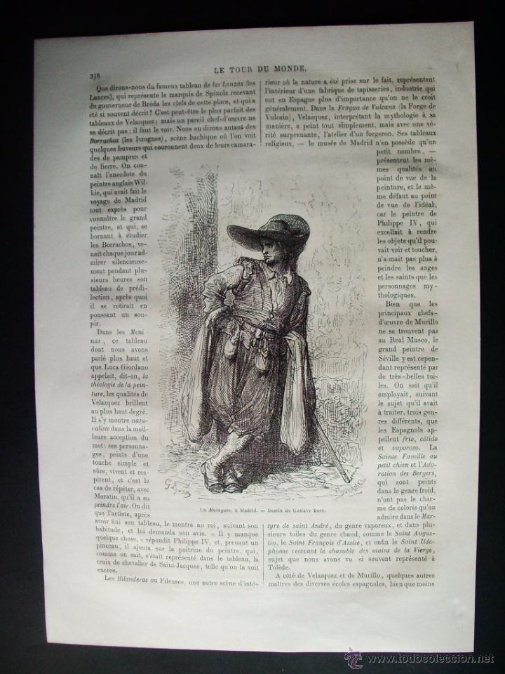 Arte: 1862-FUENTE DEL CISNE DE MADRID UN MARAGATO 2 GRABADOS ORIGINAL DE GUSTAVO DORÉ - Foto 2 - 50207073