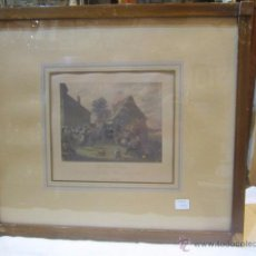 Arte: GRABADO IMPRESO S.XIX. - LA NOCE DE VILLAGE - D. TENIERS IMPRESOR.. Lote 50230011
