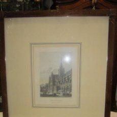 Arte: GRABADO IMPRESO S. XIX, COLOREADO - CATEDRAL DE EUREUX - F. CHARDON IMPRESOR.. Lote 50230100