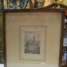 Arte: GRABADO IMPRESO S. XIX, COLOREADO - BRUSELAS - F. CHARDON IMPRESOR.. Lote 50230180
