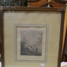 Arte: GRABADO IMPRESO S. XIX, COLOREADO - LE CHARIOT DE FOIN - P. WOUVERMANN IMPRESOR.. Lote 50230792