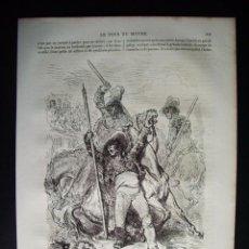 Arte: 1862-MUERTE DEL CABALLO PLAZA TOROS TOREROS GRABADO ORIGINAL DE GUSTAVO DORÉ. Lote 50236183