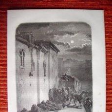 Arte: 1862-CABALLOS DILIGENCIA A JAEN GRABADO ORIGINAL DE GUSTAVO DORÉ. Lote 50262095