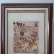 Arte: GRABADO ABSTRACTO DE HOJA 76 X 56 CM CON MARCO. Lote 50416252
