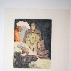 Arte: AGUAFUERTE ORIGINAL DE RAMÓN DE CAPMANY. HACIA 1945. . Lote 50419978