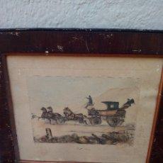 Arte: GRABADO ANTIGUO DEL 1851, DE VICTOR. J.ADAM. Lote 50433281