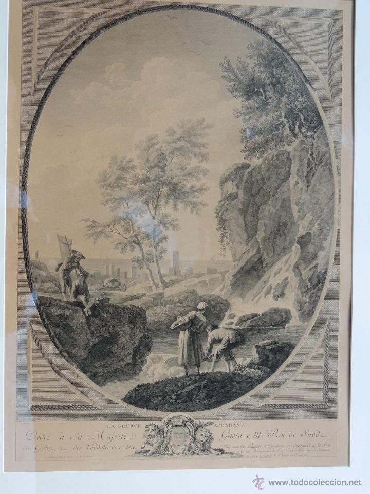 Arte: PRECIOSA PAREJA DE GRABADOS ANTIGUOS SIGLO XVIII ENMARCADOS - Foto 11 - 50545736