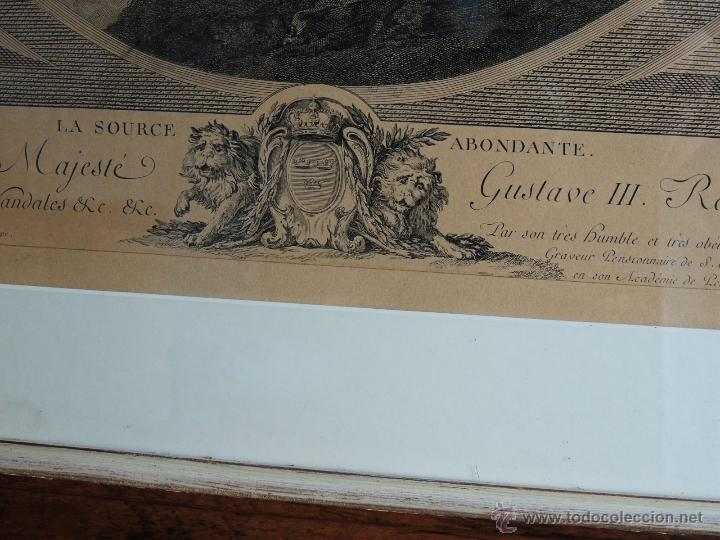 Arte: PRECIOSA PAREJA DE GRABADOS ANTIGUOS SIGLO XVIII ENMARCADOS - Foto 13 - 50545736