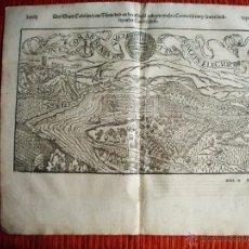 Arte: 1580-MAPA DE KOBLEN COBLENZA RENANIA ALEMANIA DEUTSCHLAND. COSMOGRAFIA DE SEBASTIAN MUNSTER.ORIGINAL. Lote 50568005
