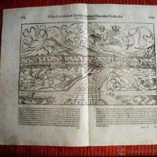 Arte: 1574-SÉLESTAT ALSACE ALSACIA FRANCIA FRANCE. COSMOGRAFIA DE SEBASTIAN MUNSTER.ORIGINAL. Lote 50568361