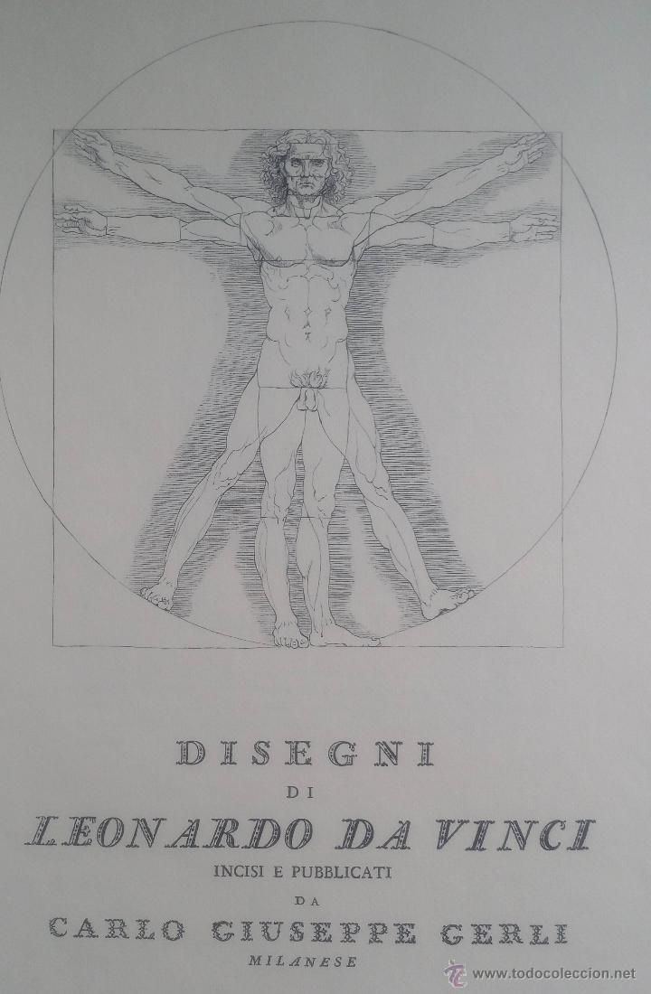 DISEGNI DI LEONARDO DA VINCI / CARLO CERLI / PLIEGO (Arte - Grabados - Contemporáneos siglo XX)