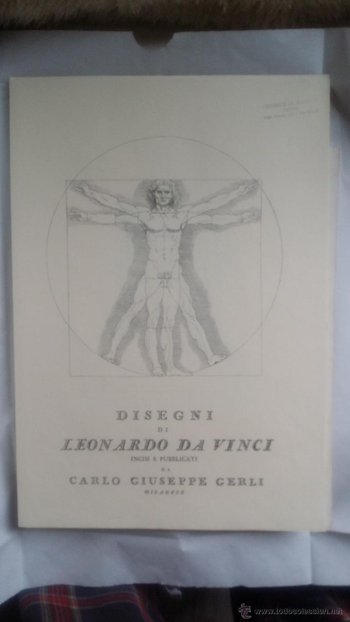 Arte: DISEGNI DI LEONARDO DA VINCI / CARLO CERLI / Pliego - Foto 2 - 50695102