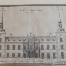 Arte: CUADRO CON GRABADO ANTIGUA CARCEL DE MADRID POR HERMENEGILDO VICTOR UGARTE 1756. Lote 50721468
