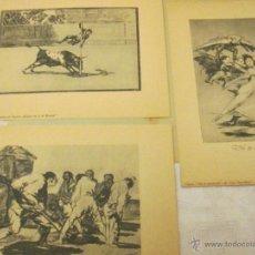 Arte: **LOTE-3 GRABADOS-GOYA-EL ARTE DE GOYA READER´S DIGEST-AÑOS 50-VER FOTOS.. Lote 50975807