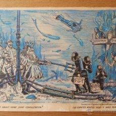 Arte: INTERESANTE GRABADO, TIRA CÓMICA INGLESA DE LOS AÑO 50-60, COLOREADO A MANO.. Lote 51116979