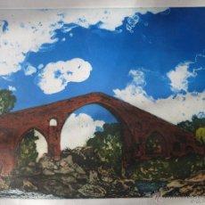 Arte: GRABADO LUIS GARCIA OCHOA. PUENTE ROMANO DE CANGAS DE ONIS.. Lote 51125993