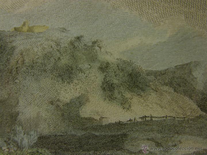 Arte: grabado coloreado plancha s XX primera mitad paisaje caza départ chasse van Falens Le bas 56x76cms - Foto 14 - 51159557