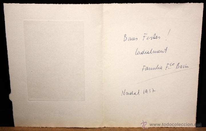 Arte: JAUME PLA PALLEJA (Rubí, 1914 - Bcn, 1995) GRABADO CON FELICITACION FIRMADO A LAPIZ POR EL ARTISTA - Foto 3 - 51374927
