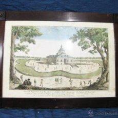 Arte: GRABADO DE LA ERMITA DE SAN ANTONIO ABAD. PARQUE DEL RETIRO. MADRID D. G HUGIER. S. XVIII.. Lote 51378402