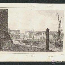 Arte: PORTO TORRES.CERDEÑA.VORMSER,DEL.-LEMAITRE DIREXIT-TRAVERSIER,SC.GRABADO SIGLO XIX.. Lote 51426531