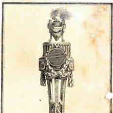 Arte: GRABADO MONUMENTO FUNERARIO POR JEAN CHARLES DELAFOSSE (1734 1789). Lote 51429346