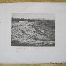 Arte: TEATRO GRIEGO DE SIRACUSA ( SICÍLIA, ITÁLIA ). CIRCA 1850. LEMAITRE Y VIOLLET. Lote 270728448