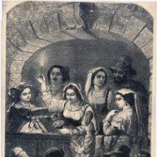 Arte: LOS MACCOLI, ESCENA DE CARNAVAL DE ROMA DE UN DIBUJO DE M. GIERDZIEJEWKI DE LA REVISTA ALMANACH DU M. Lote 51456194