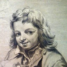 Arte: GRABADO ORIGINAL, LA PRIMAVERA, SERIE, LAS CUATRO ESTACIONES, MANUEL Y JUAN SALVADOR CARMONA, 1764. Lote 96089710