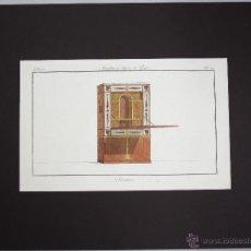 Arte: GRABADO CALCOGRAFICO COLOREADO SECRETAIRE (ESCRITORIO). AÑO 1802. Lote 51980111