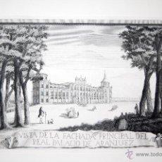 Arte: ARANJUEZ. VISTA DE LA FACHADA PRINCIPAL DEL PALACIO DE ARANJUEZ. Lote 52139185
