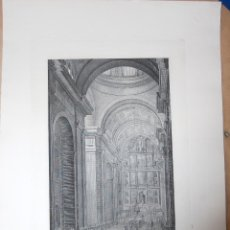 Arte: EL ESCORIAL. VISTA DE LA NAVE PRINCIPAL DEL TEMPLO DE SAN LORENZO . Lote 52141209