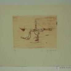 Arte: GRABADO SOBRE PAPEL FIRMADO JOSEP FAJARDO P.A. Lote 52155529