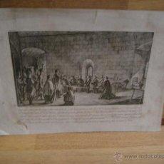 Arte: GRABADO Nº 2 DE LA SERIE HEROES DE BARCELONA , PROCESO DE LA CIUDADELA - MIGUEL GAMBORINO , AÑO 1815. Lote 52291769