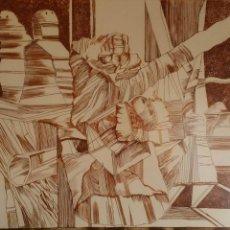 Arte: ORLANDO PELAYO: COPLAS A LA MUERTE DE SU PADRE, DE JORGE MANRIQUE,1979 / PLANCHA VII / FIRMADO Y Nº.. Lote 52444453