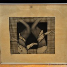Arte: Mª JOSE ESCALANTE (ALCALA DEL VALLE, CÁDIZ, 1946 - 1988) GRABADO ORIGINAL DEL AÑO 1977 46/100. Lote 52498498