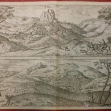 Arte: 1564 VISTAS DE HARDALES Y CARTAMA MÁLAGA - CIVITATES ORBIS TERRARUM - BRAUN & HOGENBERG SIGLO XVI. Lote 52538854