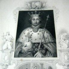 Arte: GRABADO S.XIX RICHARD II RICARDO II. Lote 52561960