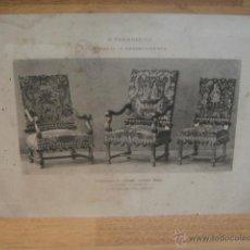 Arte: GRABADO DE MUEBLES DE H. FOURDINAIS - IMPRENTA COLBE & CIE - PARIS - J. M. FABRE. Lote 52571651