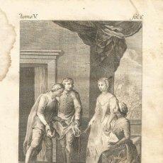 Arte: GRABADO O ESTAMPA DE JOSÉ CAMARÓN Y MIGUEL GAMBORINO FINAL SIGLO XVIII. Lote 52591234