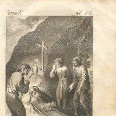 Arte: GRABADO O ESTAMPA DE JOSÉ CAMARÓN Y VICENTE PASCUAL PEREZ FINAL SIGLO XVIII. Lote 52591443