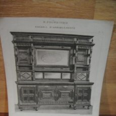 Arte: GRABADO DE MUEBLE - H. FOURDINOIS - IMPRENTA COLBE ET CIE , PARIS - LIBRERIA SUCESOR DE M. FABRE. Lote 52592050