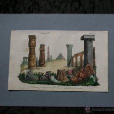 Arte: 1840 - EGIPTO - EGYPT - MONUMENTOS - HAND COLOR ENGRAVING - GRAVURE - GRABADO. Lote 52622641