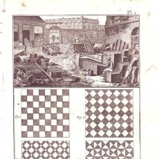 Arte: DIDEROT: MARBRERIE(MARMOLERÍA). 10 LÁMINAS GRABADAS, SIGLO XVIII. Lote 52697076