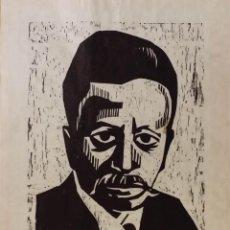 Arte: RETRATO DE RILKE / LINÓLEO FECHADO Y FIRMADO A LÁPIZ / 1970. Lote 52752205
